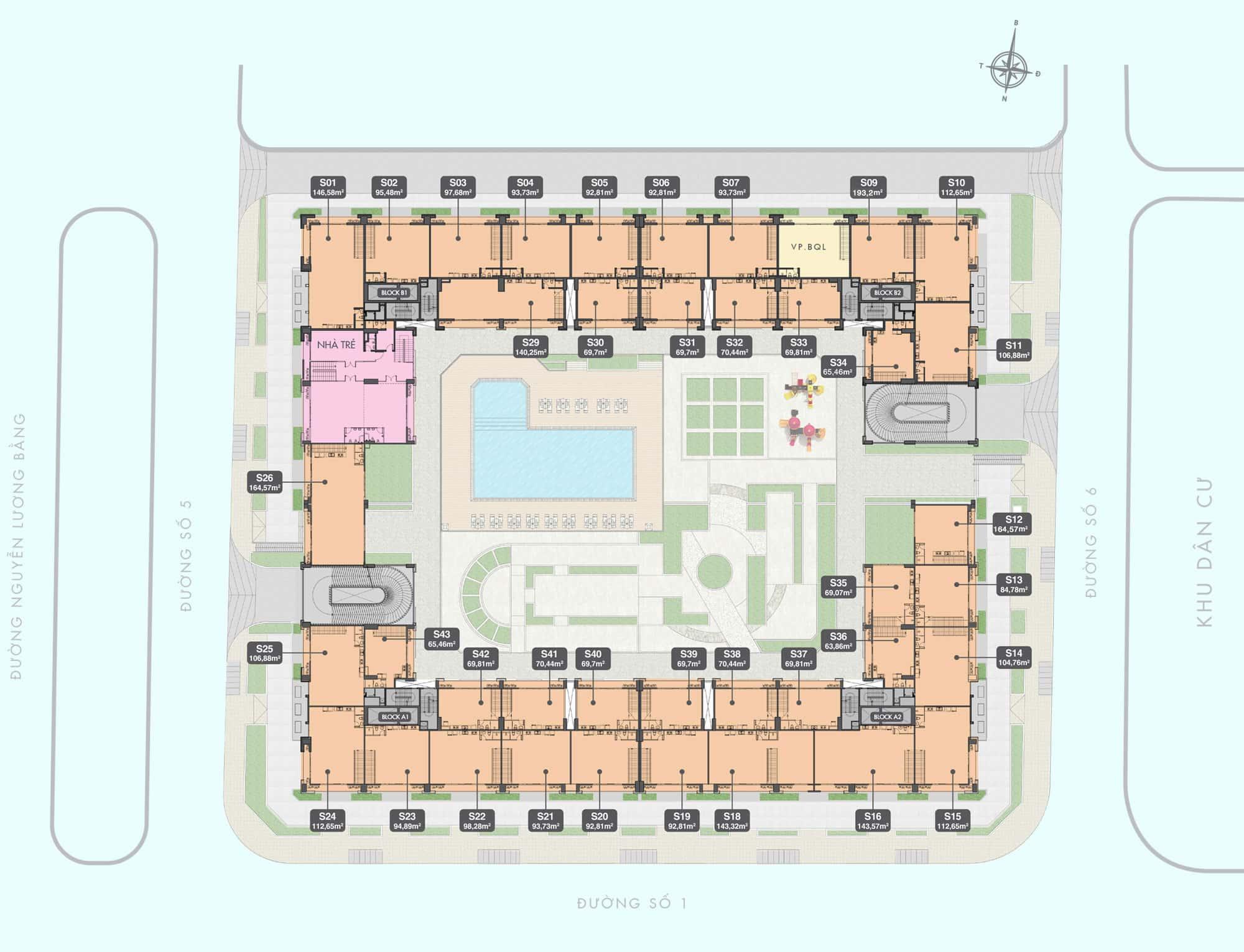 mat bang shophouse tang 2 q7 boulevard