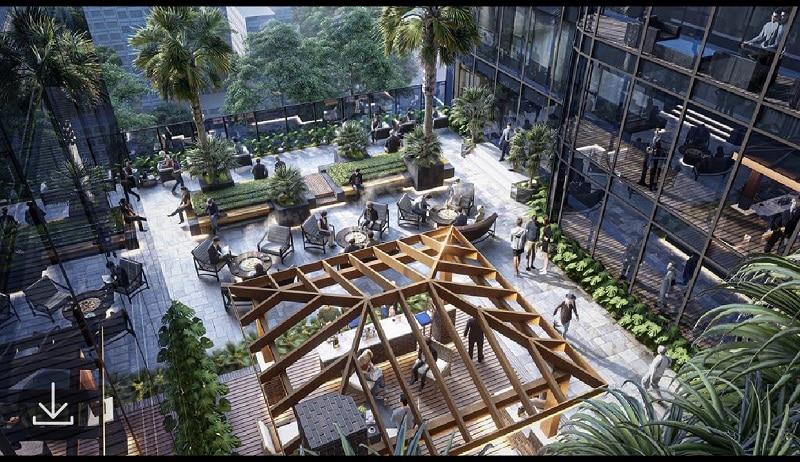 Sân vườn trên tầng 5 tại Sunshine Continental