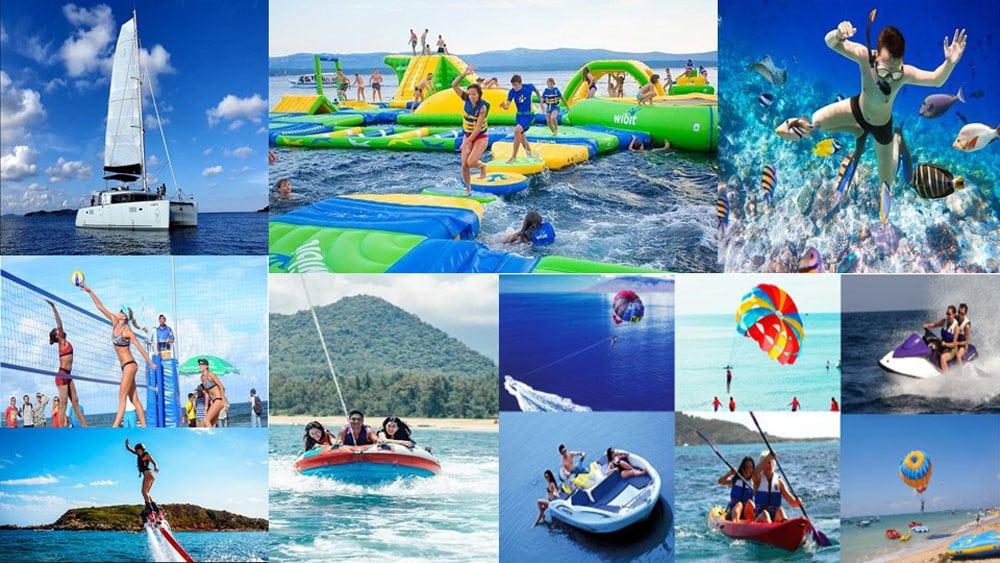 Tiện ích khu vui chơi giải trí trên biển