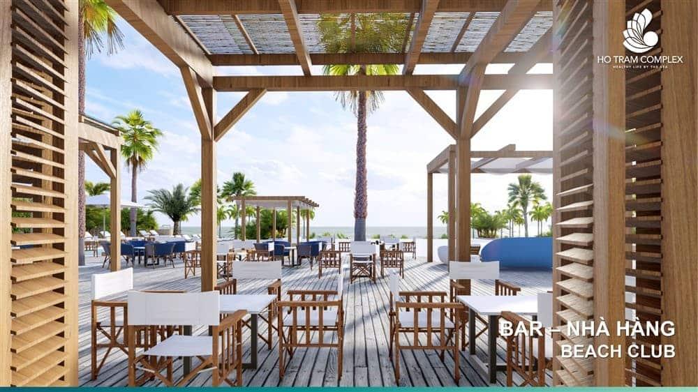 Club House: Bar - Nhà Hàng - Cafe tại Beach Club Hồ Tràm Complex