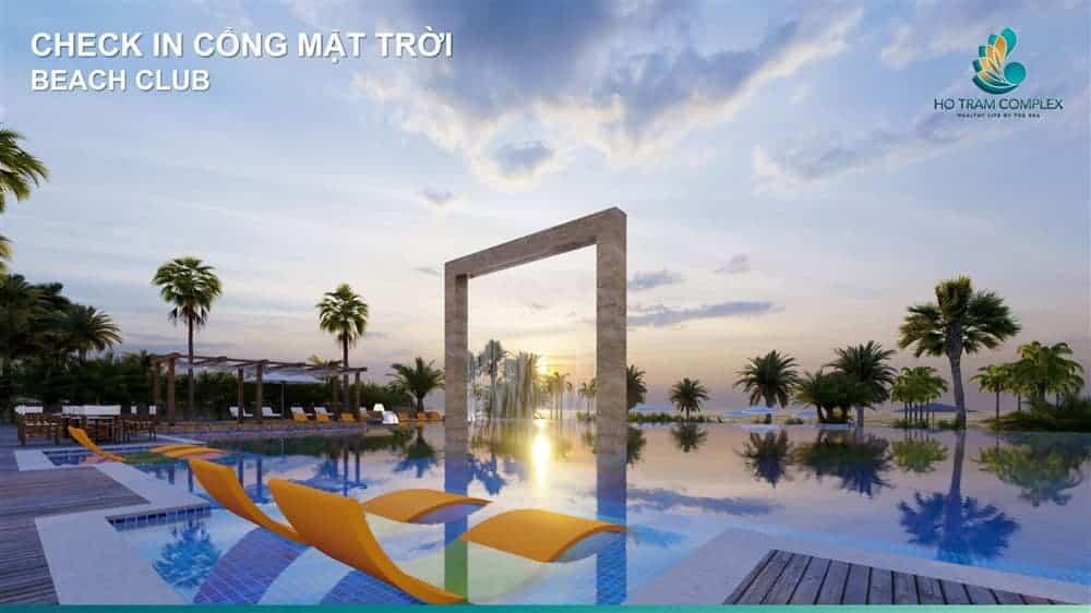 Điểm check-in Cổng mặt trời tại Beach Club Hồ Tràm Complex