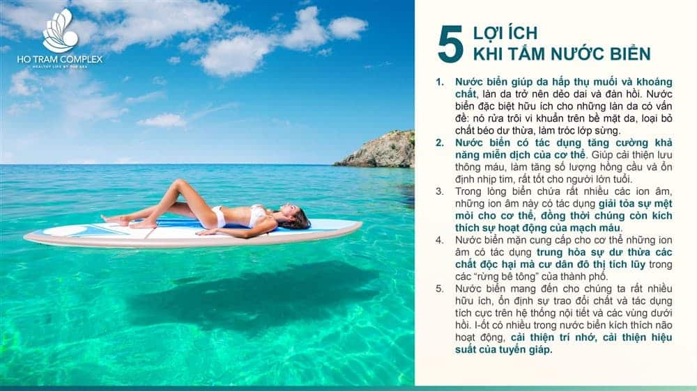 5 lợi ích của việc tắm nước biển