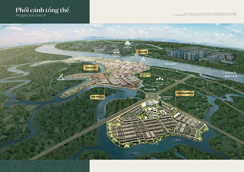 Phối cảnh tổng thể dự án Aqua City Novaland