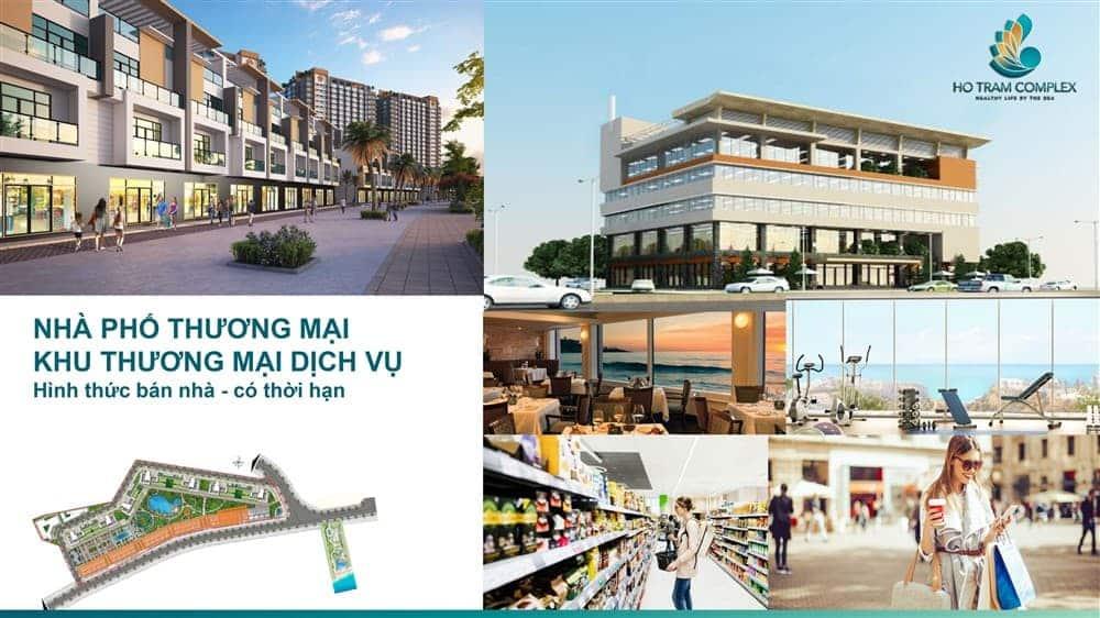 Tiện ích khu nhà phố thương mại và dịch vụ
