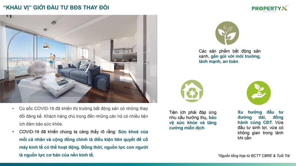 Tiêu chí sức khỏe lần đầu tiên được đưa vào căn hộ Hồ Tràm Complex