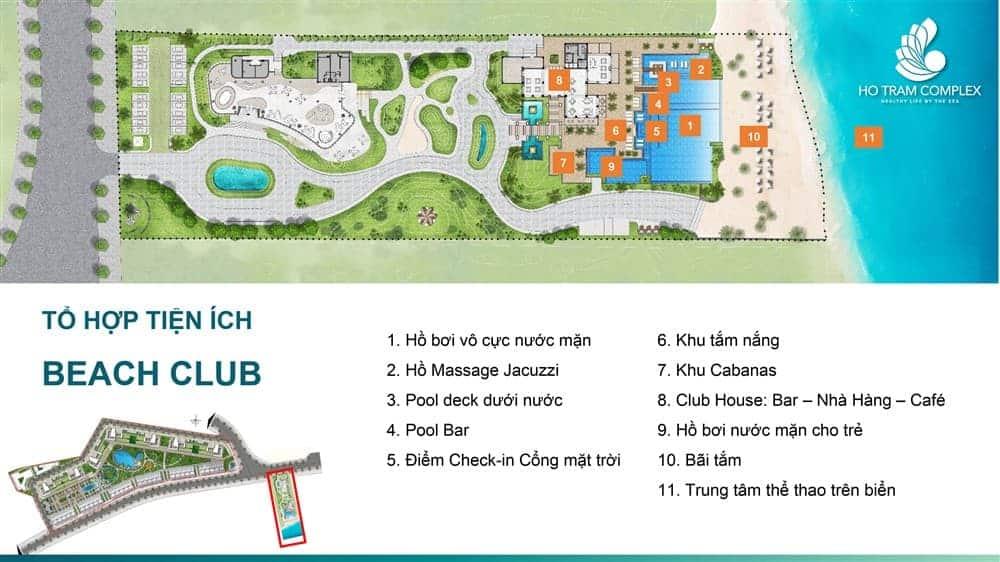 Tổ hợp các tiện ích độc đáo tạo khu Beach Club