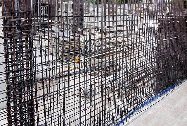 Thi công cốt thép tường tầng hầm Block A Lavita Charm