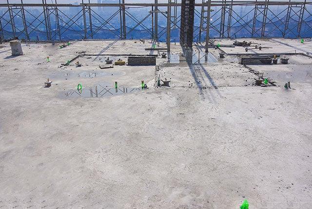 Hoàn thành đổ bê tông sàn tầng 18 Block B