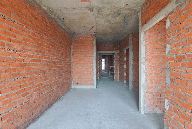 Xây tường bao căn hộ từ tầng 5 đến tầng 13 Block B