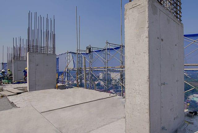 Hoàn thành đổ bê tông cột tầng 18 Block C