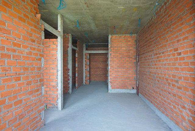 Xây tường bao căn hộ từ tầng 5 đến tầng 13 Block C