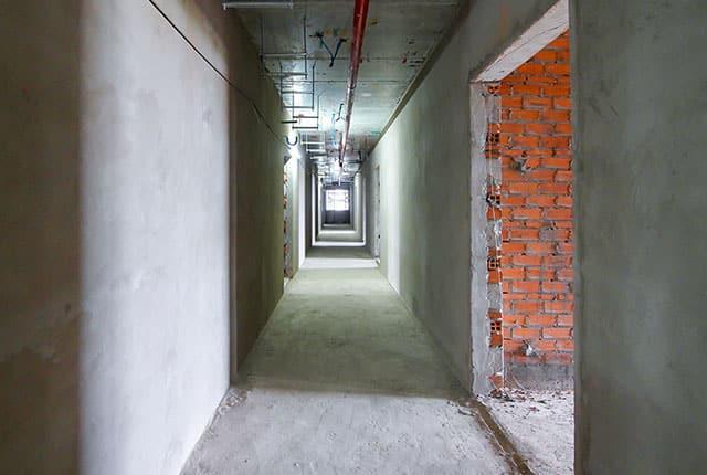Tô tường hành lan căn hộ từ tầng 5 đến tầng 13 Block A1, Block A2, Block B và Block C