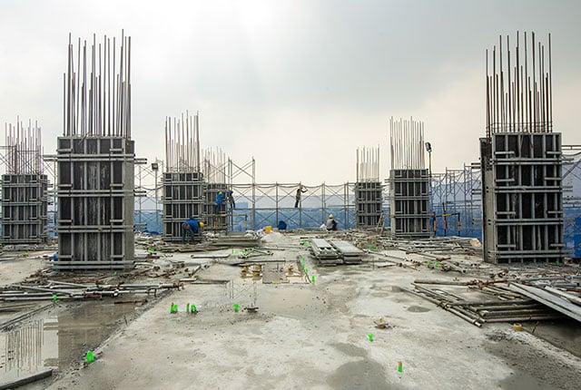 Hoàn thành đổ bê tông sàn tầng 11 Block A1