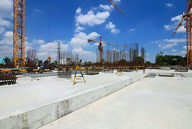 Hoàn thành đổ bê tông sàn tầng 1 Block A dự án Lavita Charm