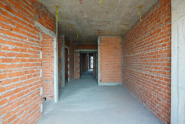 Xây tường bao căn hộ từ tầng 5 đến tầng 11 Block A1