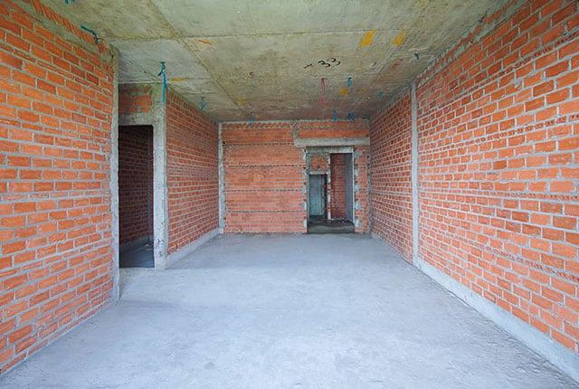 Xây tường bao căn hộ từ tầng 5 đến tầng 13 Block A1