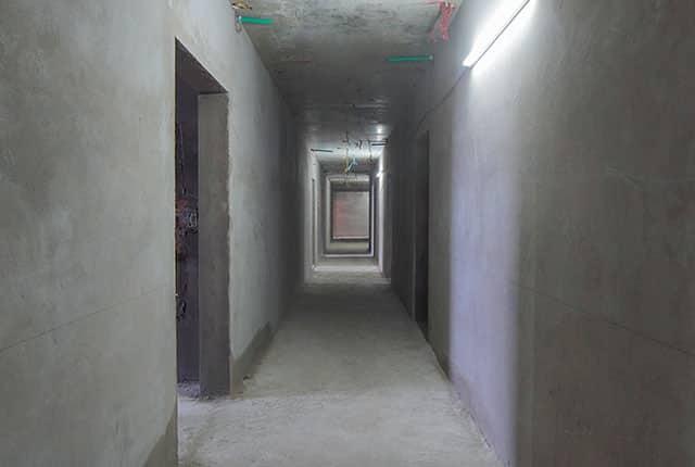 Tô tường hành lang căn hộ từ tầng 5 đến tầng 9 Block A1 và Block A2