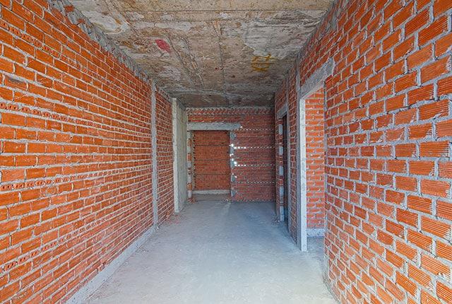 Xây tường bao căn hộ tầng 5 Block A2