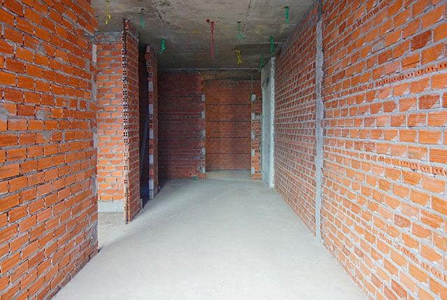 Xây tường bao căn hộ từ tầng 5 đến tầng 19 Block A1, Block A2, Block B và Block C
