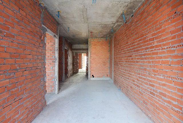 Xây tường bao căn hộ từ tầng 5 đến tầng 11 Block A2