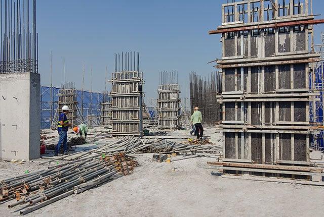 Hoàn thành đổ bê tông cột sàn tầng 18 Block C