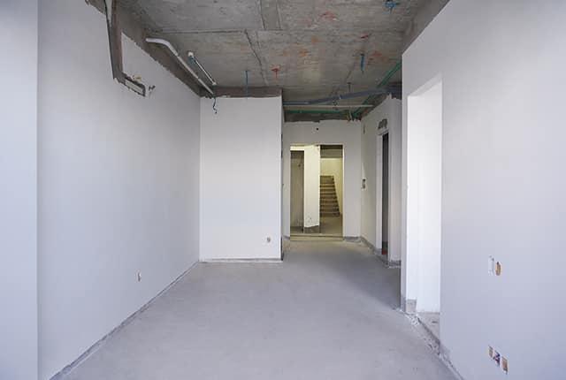 Bả sơn matit hành lang căn hộ từ tầng 5 đến tầng 14 Block A1, Block A2, Block B và Block C