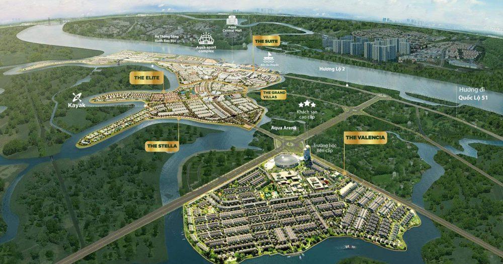 Phối cảnh tổng thể dự án Aqua City Đồng Nai của Novaland
