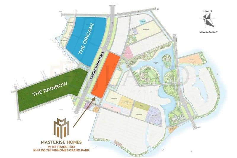 Vị trí dự án Masteri Centre Point Quận 9