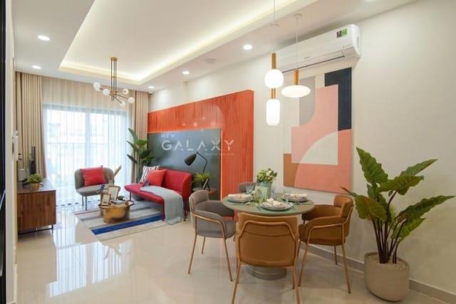 Các căn hộ tại dự án New Galaxy đều được xây dựng hiện đại, bắt mắt