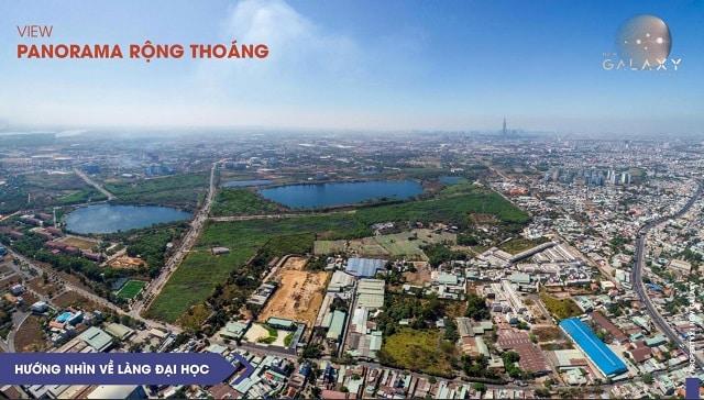 View hướng về làng đại học Linh Trung, Thủ Đức