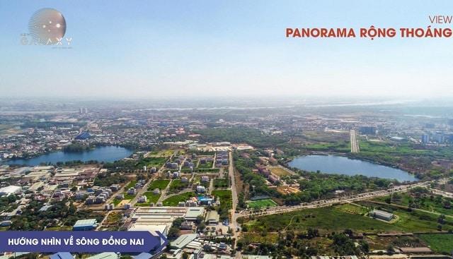 View hướng về Hồ Đá và sông Đồng Nai