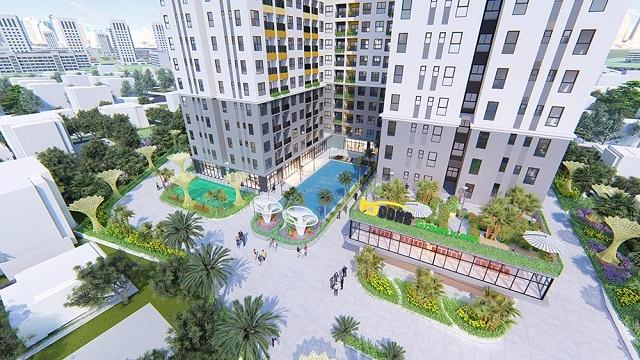 Công viên nội khu được thiết kế bài bản, đẹp mắt