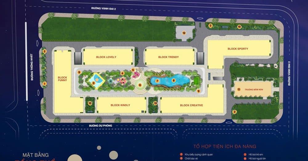 Mặt bằng tổng thể dự án căn hộ New Galaxy Bình Dương