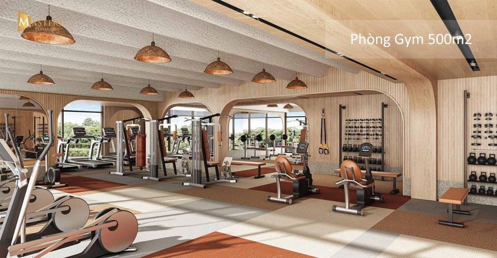 Phòng gym tại Masteri Centre Point