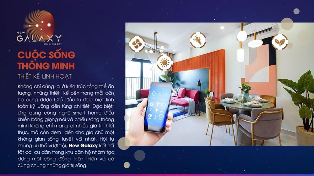 Hạ tầng và an ninh khu căn hộ New Galaxyđược thiết kế cẩn thận, an toàn.