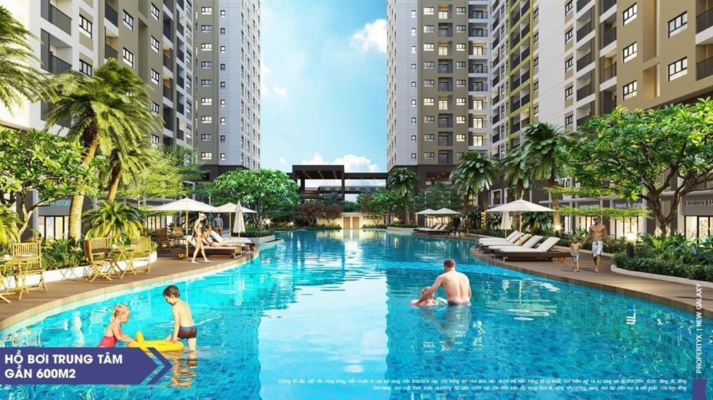 Hồ bơi tại căn hộ New Galaxy