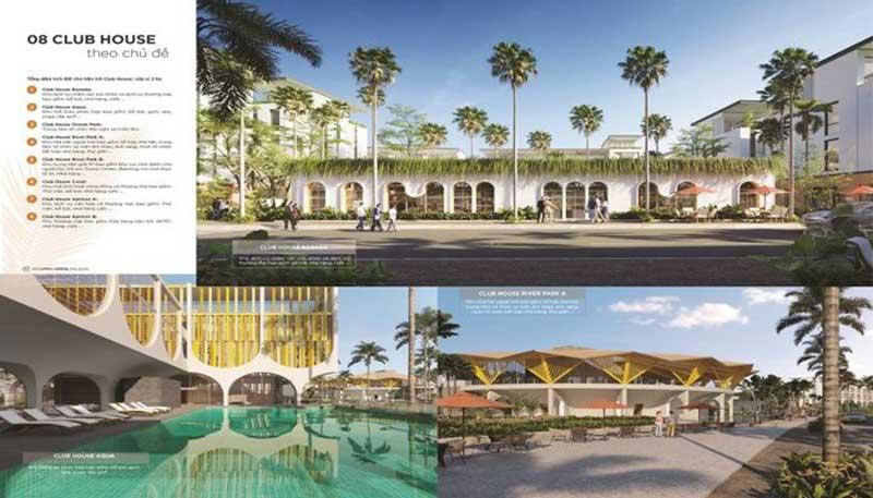 8 Club House tại các khu dự án đô thị Meyhomes Capital Phú Quốc