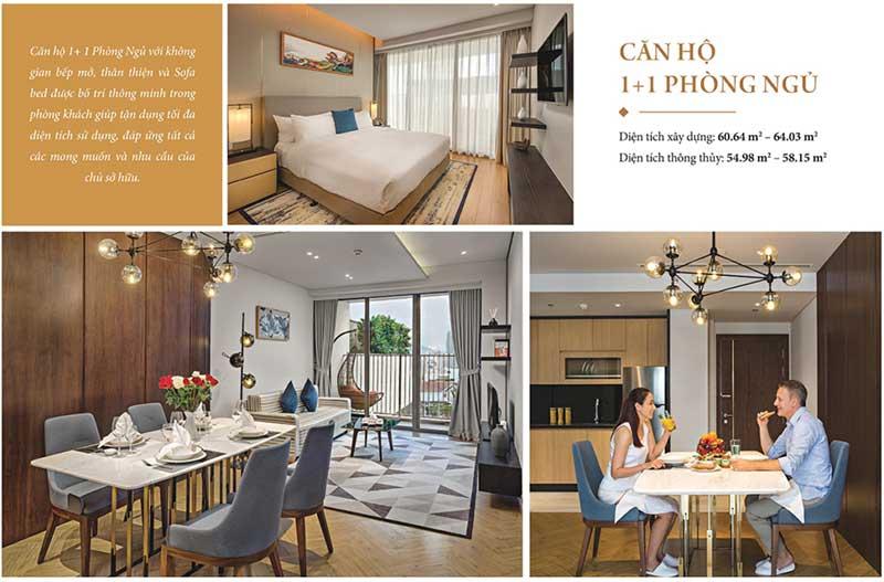 Thiết kế căn hộ 1 phòng ngủ Wyndham Soleil