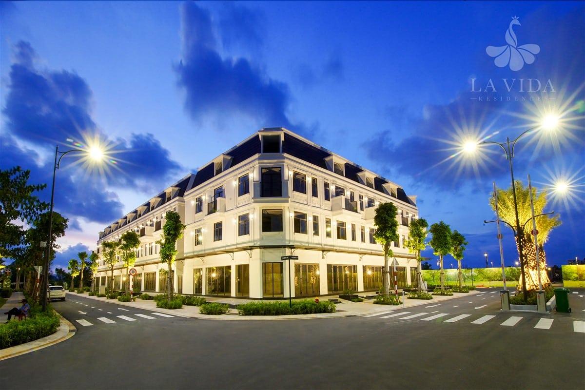 Hình ảnh thực tế khu nhà phố vườn chủ đầu tư Lavida đã hoàn thành và bàn giao cho khách hàng