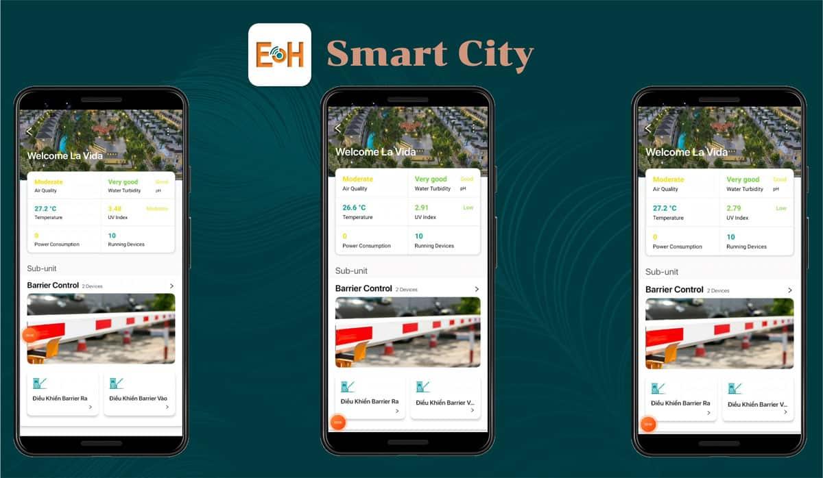 Lavida Residences được quản lý bởi ứng dụng EOH Smart City do chủ đầu tư phát triển