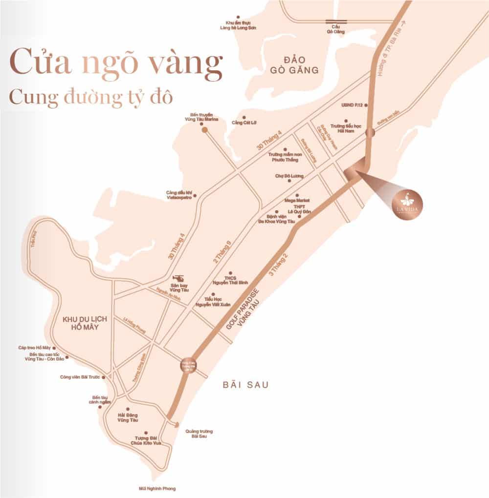 Lavida Residences sở hữu vị trí cửa ngỏ cung đường tỷ đô vào thành phố Vũng Tàu