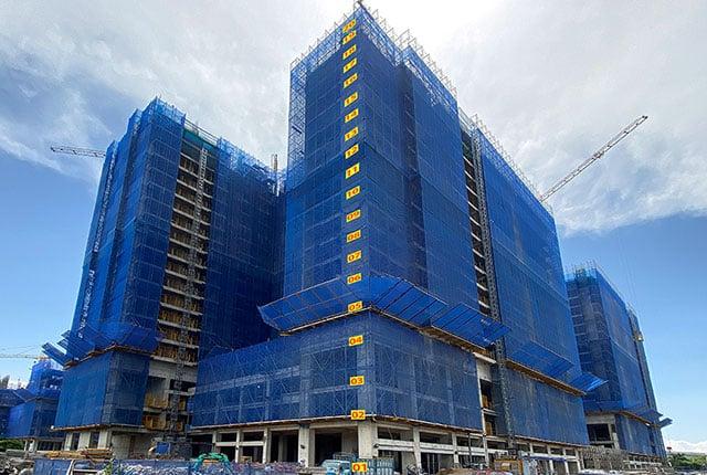 Tiến độ xây dựng tổng thể block Mecury dự án Q7 Riverside