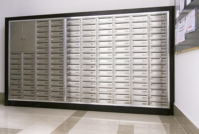 Khu vực thùng thư tập trung đã hoàn thiện và sẵn sàng phục vụ cư dân