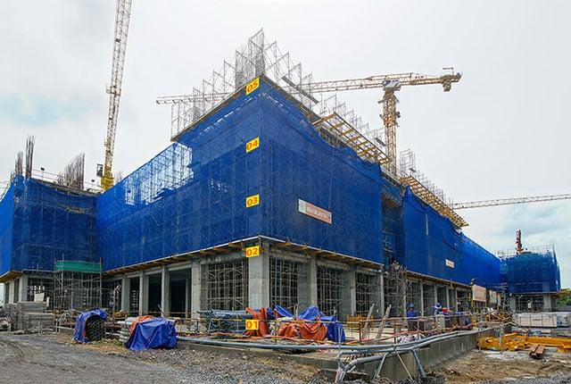 Tiến độ xây dựng tổng thể block Saturn dự án Q7 Riverside