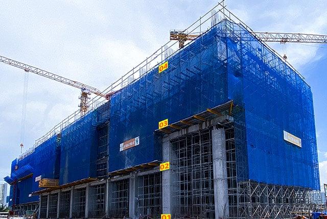 Tiến độ xây dựng tổng thể block Venus dự án Q7 Riverside