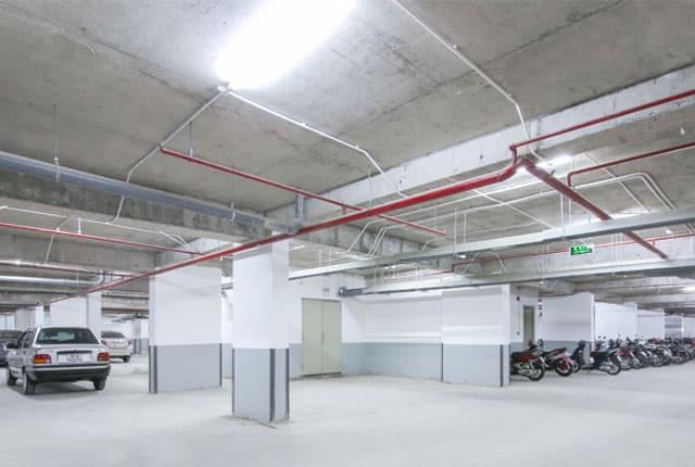 Hệ thống hầm giữ xe đã đưa vào phục vụ cư dân