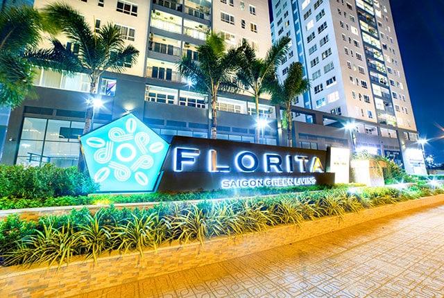 Cảnh quan mặt tiền khu căn hộ Florita