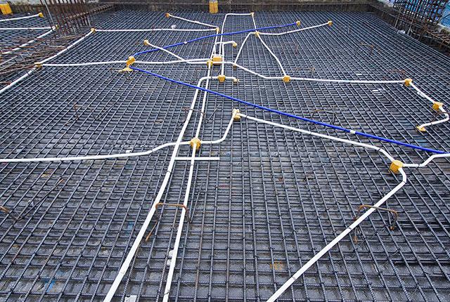 Thi công cốt thép sàn tầng 35 block Mecury và block Uranus