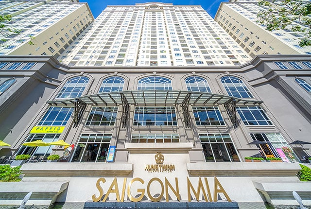 Mặt tiền khu căn hộ SaigonMia