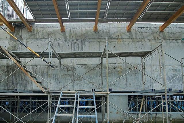 Hoàn thành đổ bê tông dầm chuyển tầng 4 và tầng 5 block Saturn